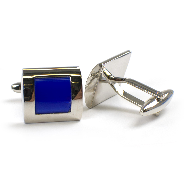 Cufflinks with blue cats eye