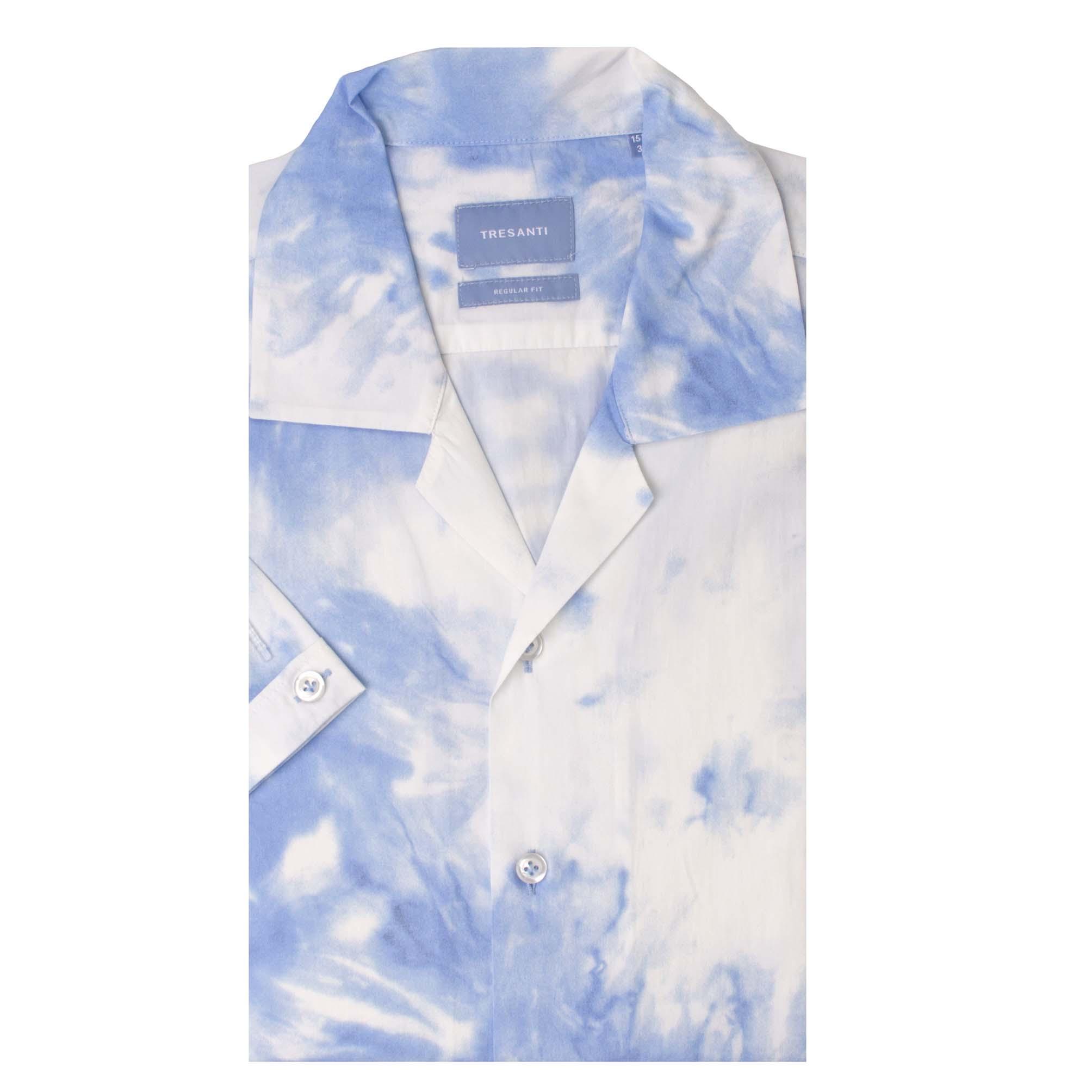 Tyrell   Shirt tie dye print blue   SS