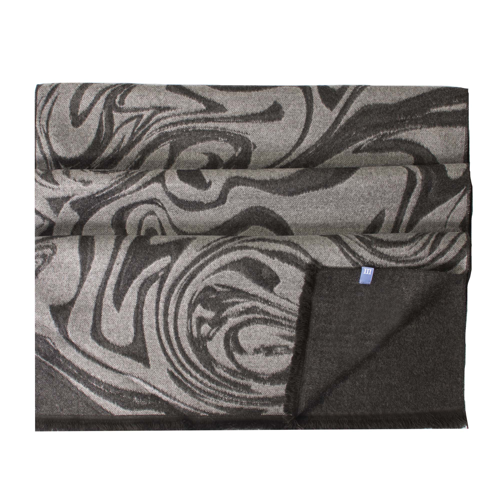 Scarf viscose double face, large marble