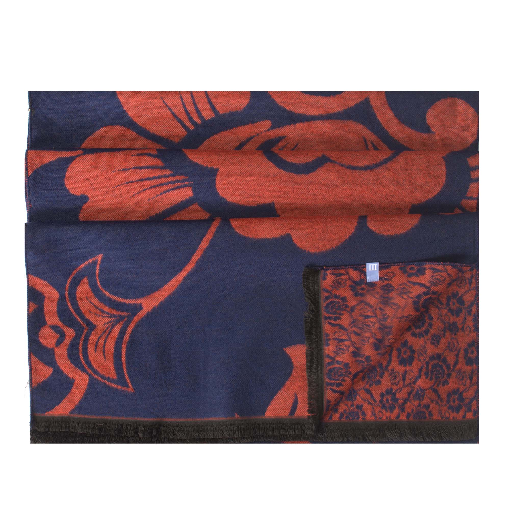 Scarf viscose double face, flower