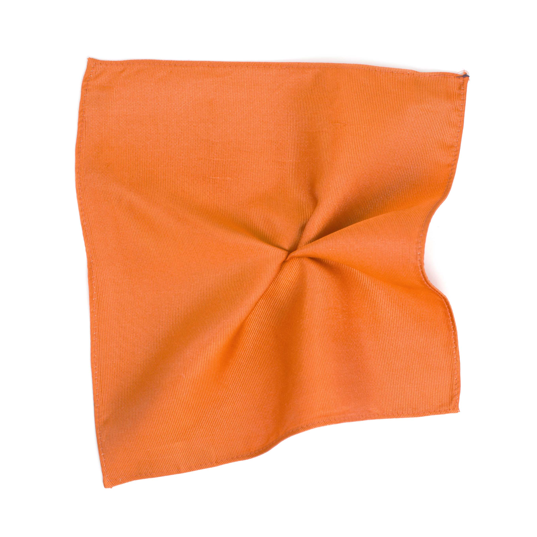 Classic orange ribbed pocket square