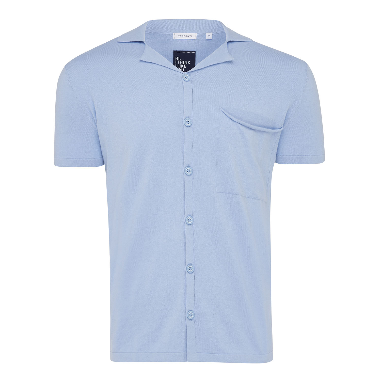Maxwell | Pullover short sleeve shirt light blue
