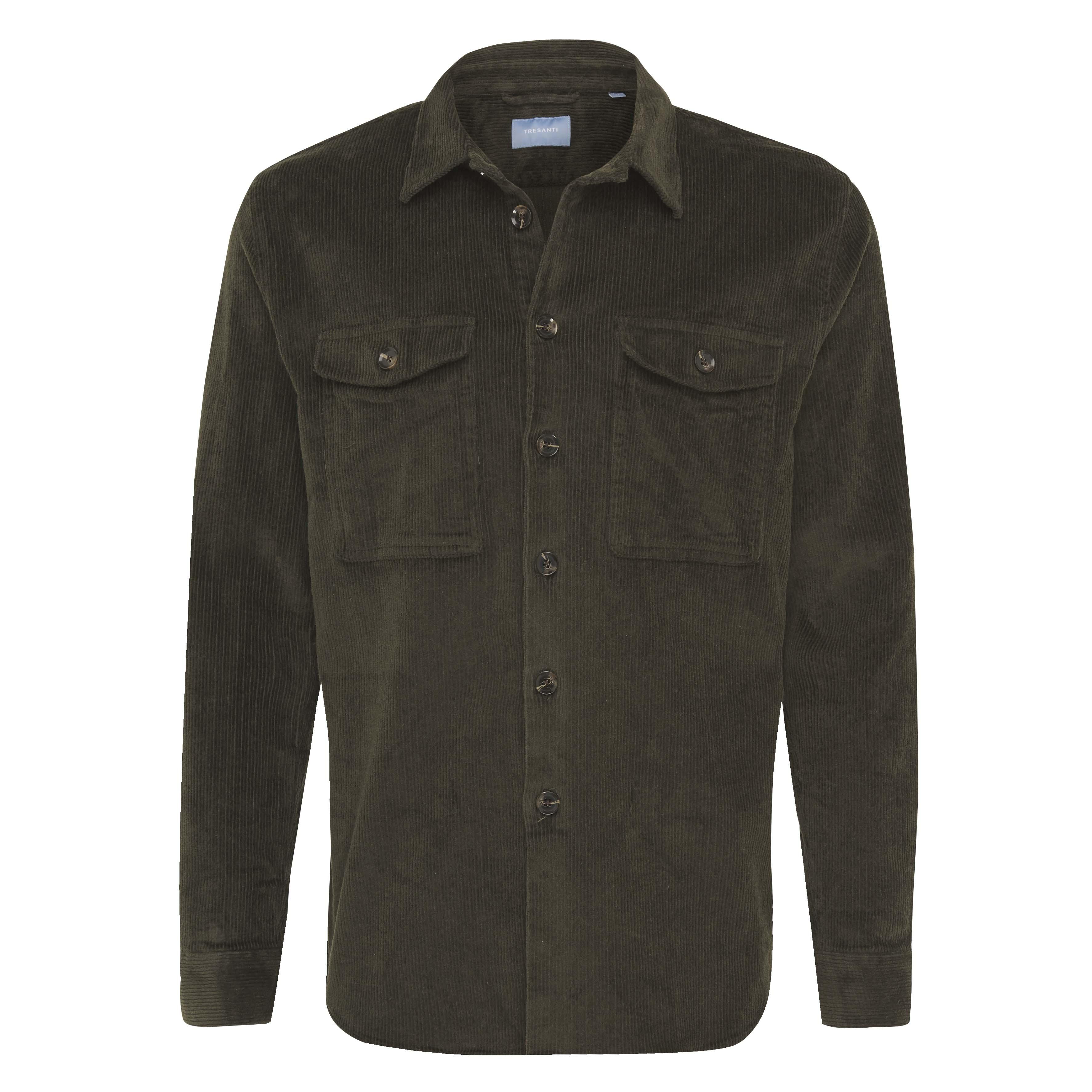 Jiro | Overshirt corduroy dark green