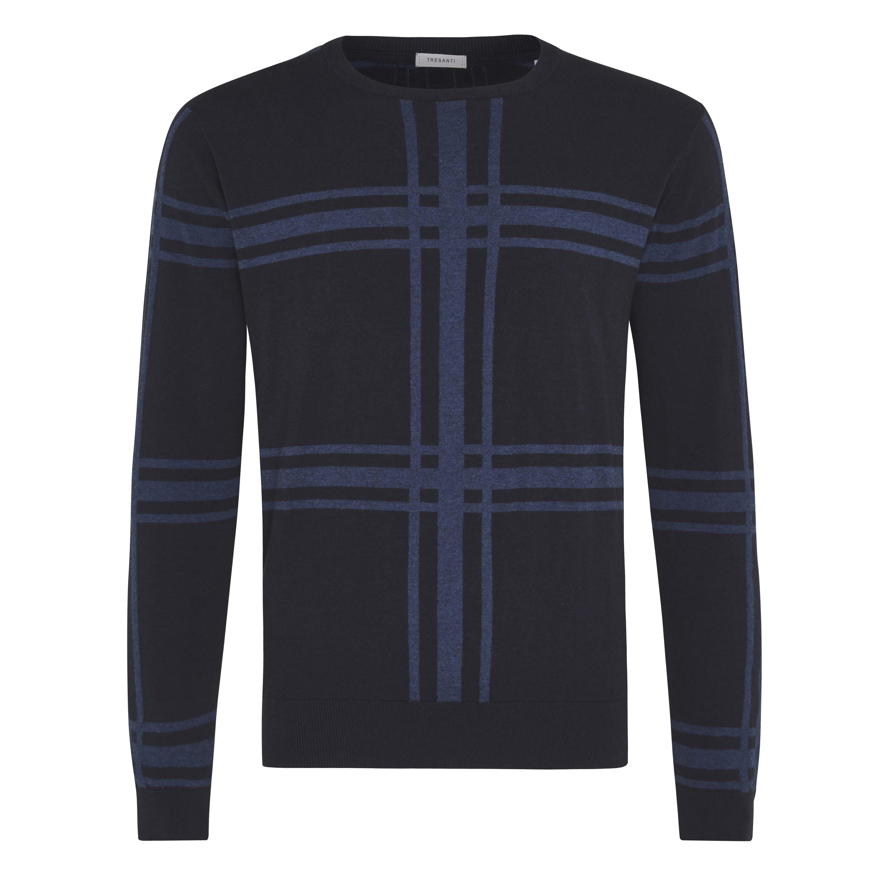 Jorik | Pullover check blue