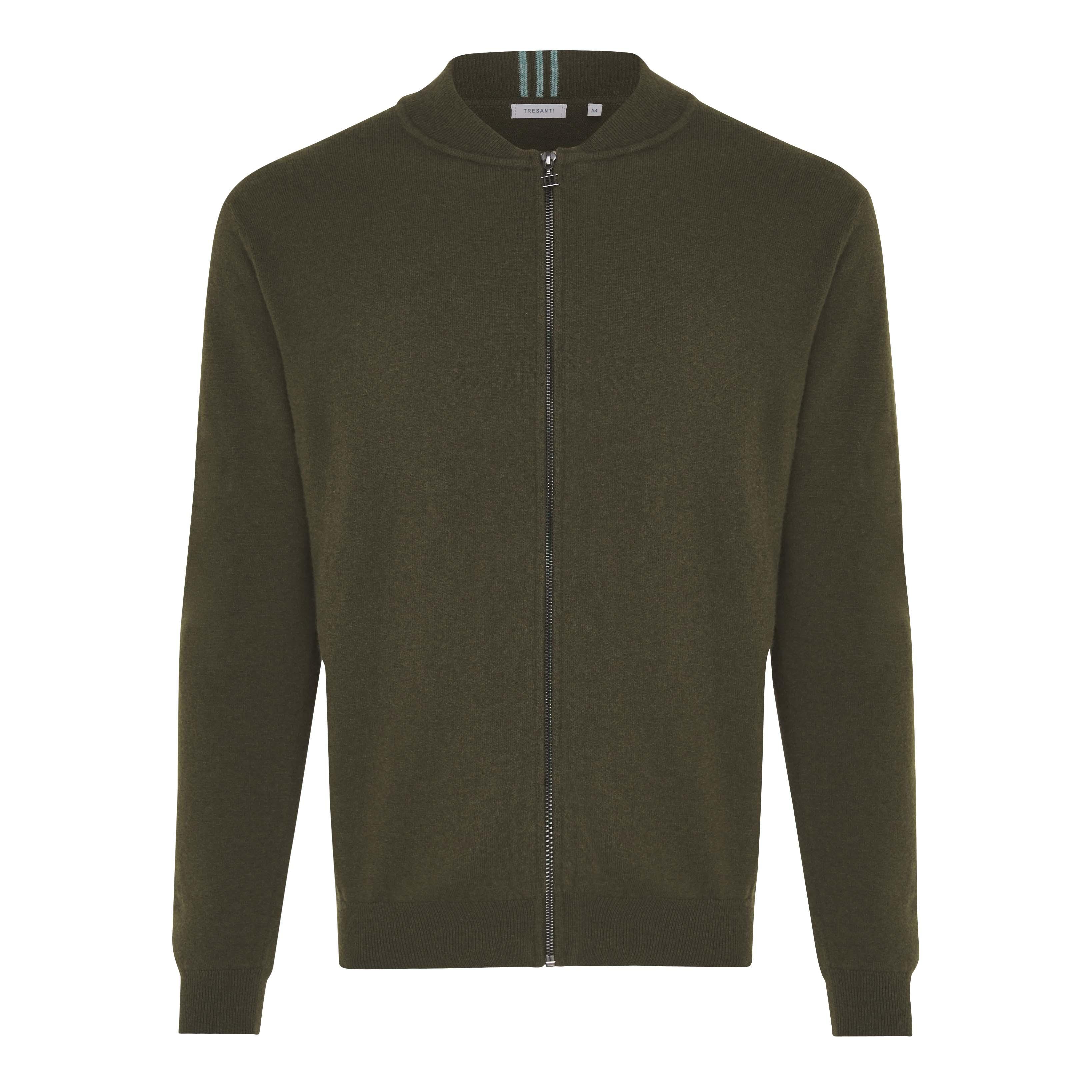 Jonathan   Pullover with zipper dark green