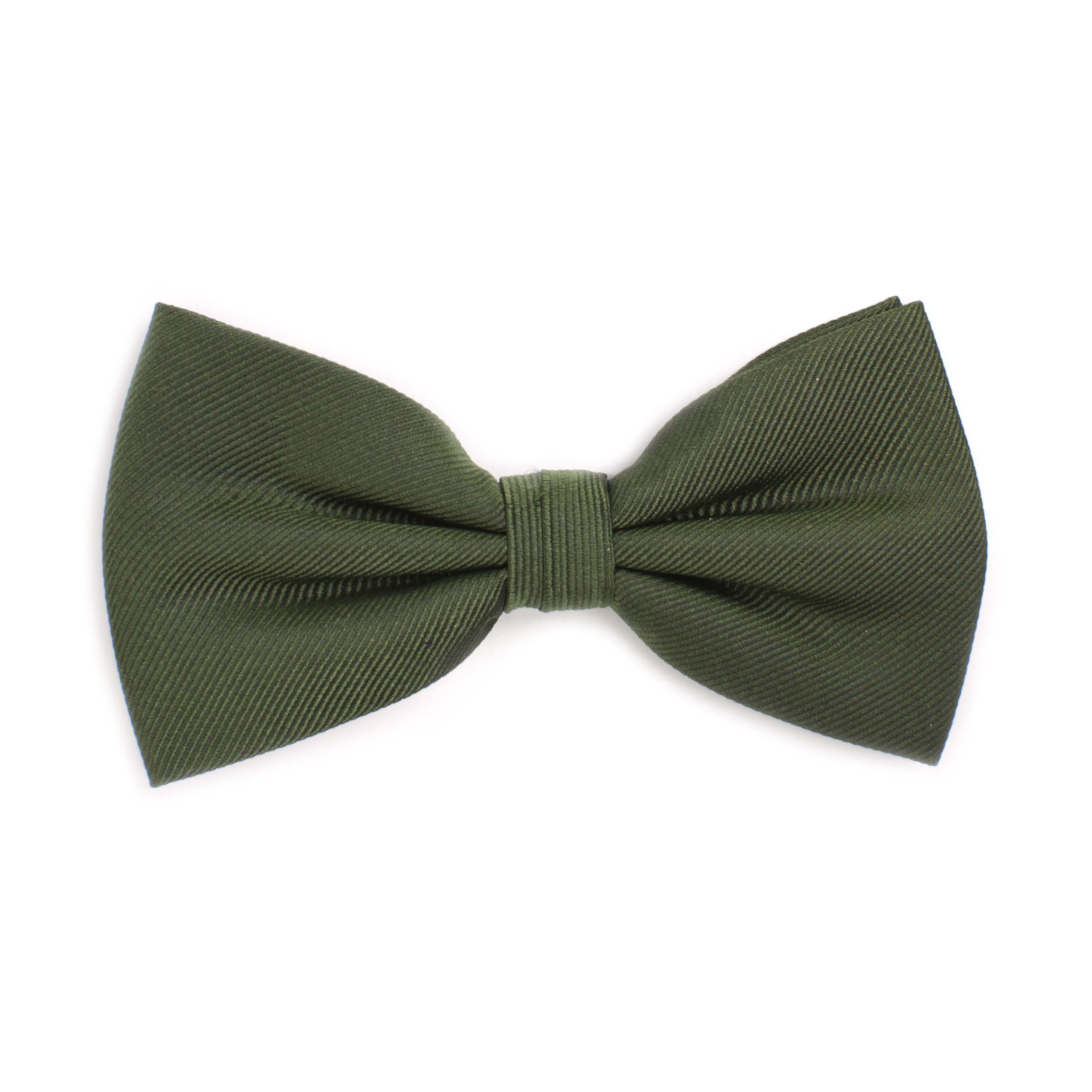 Bow tie classic ribbed green