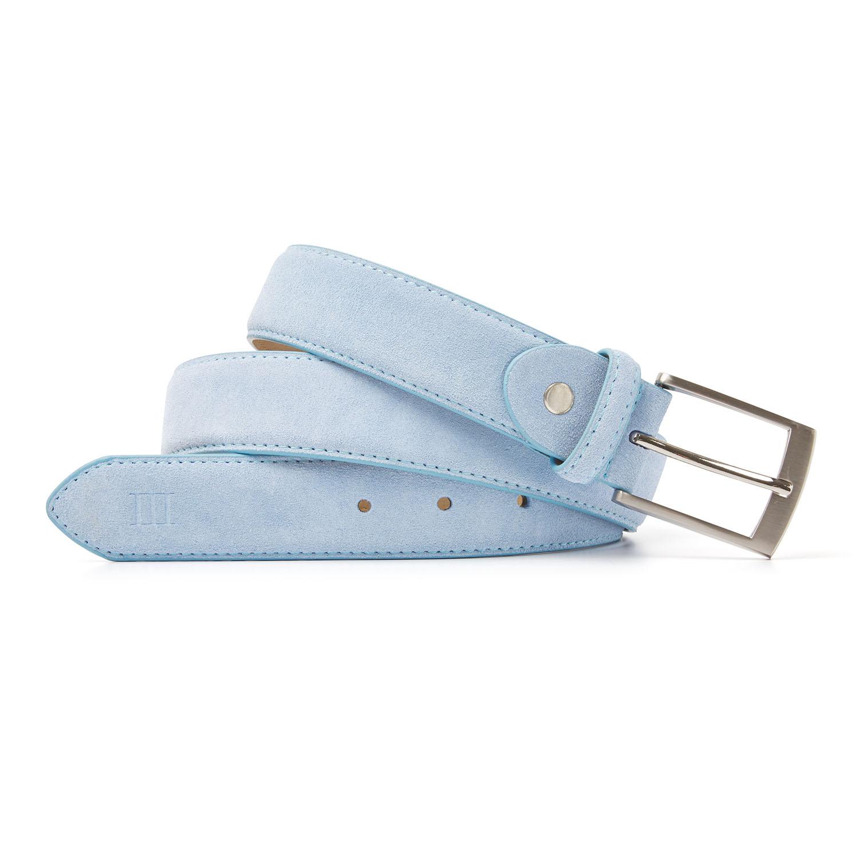 Tyler | Belt suede light blue