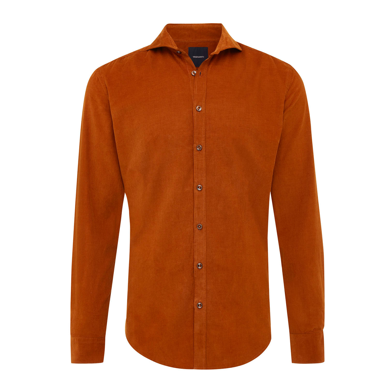 EMRIC | Shirt with button closure and baby cord camel