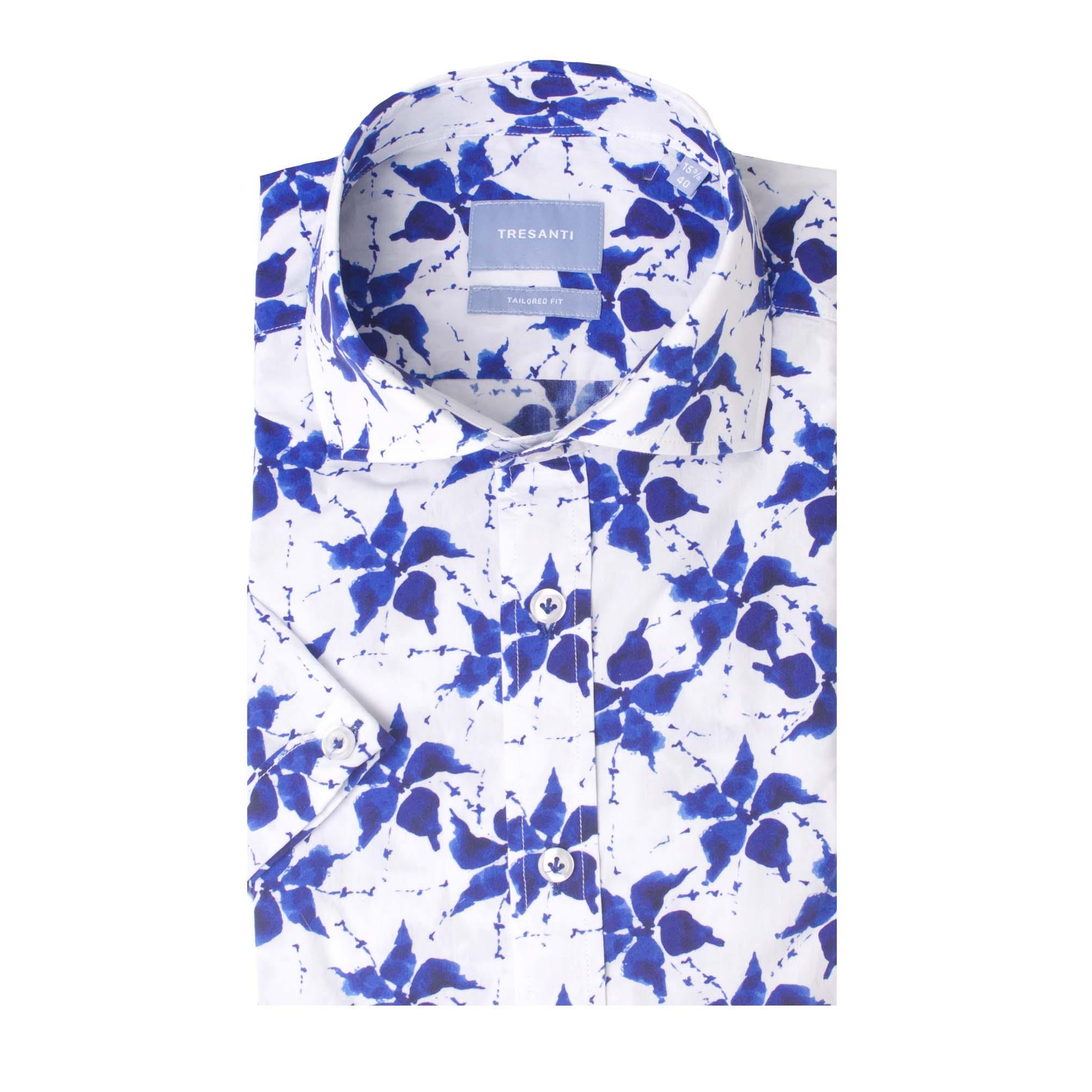 Tygo | Shirt flower print blue | SS