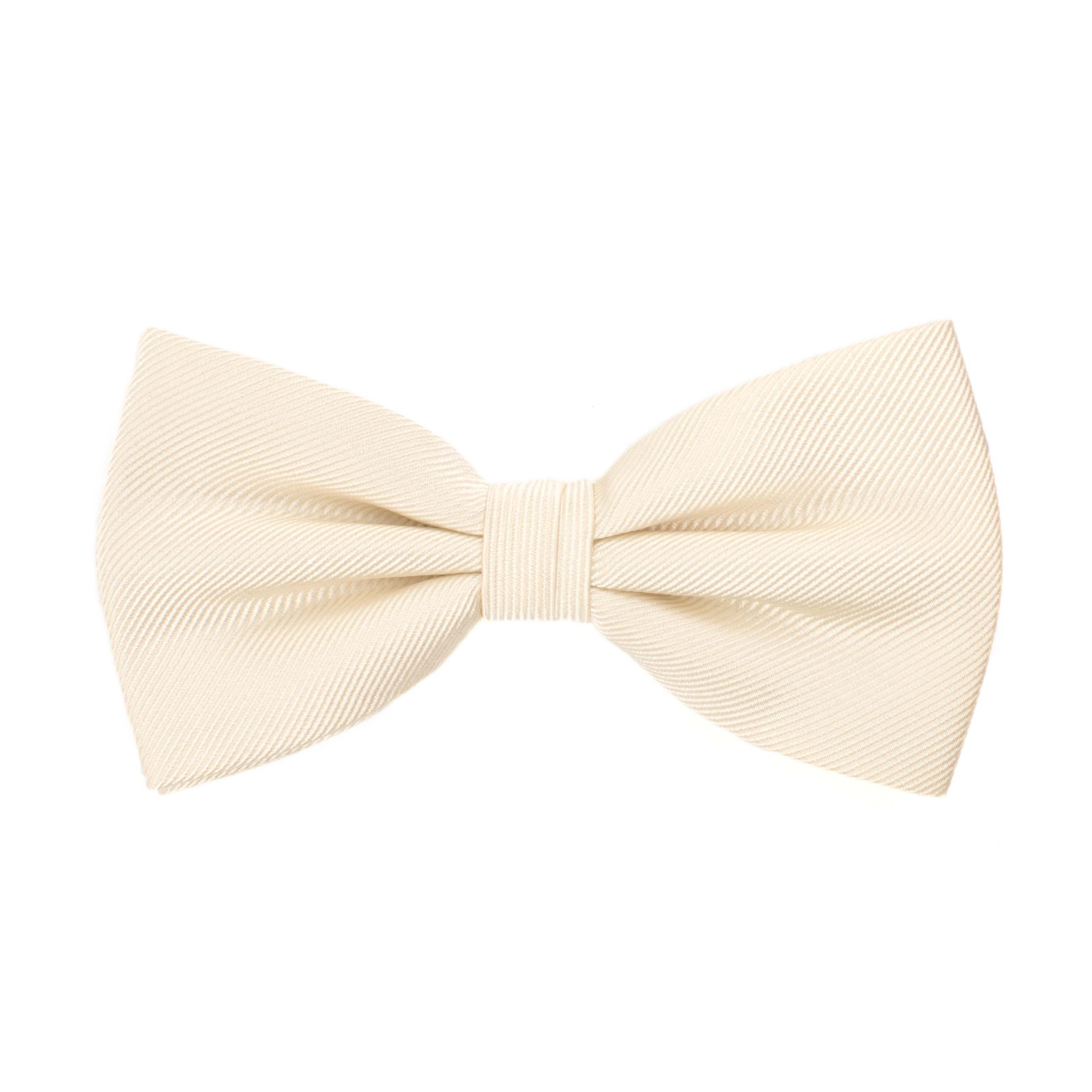 Bow tie classic ribbed ivory