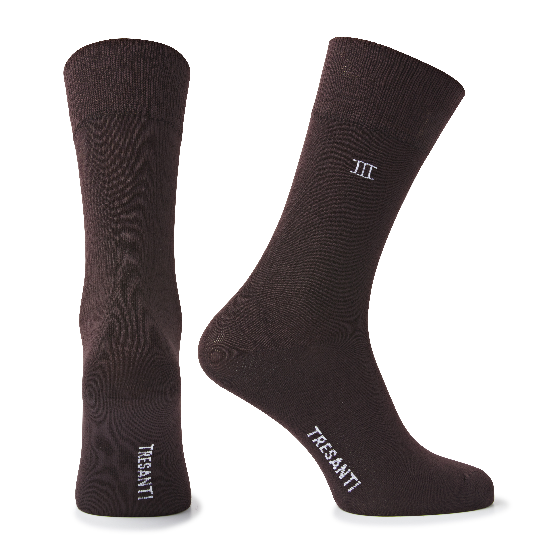 Socks bamboo brown