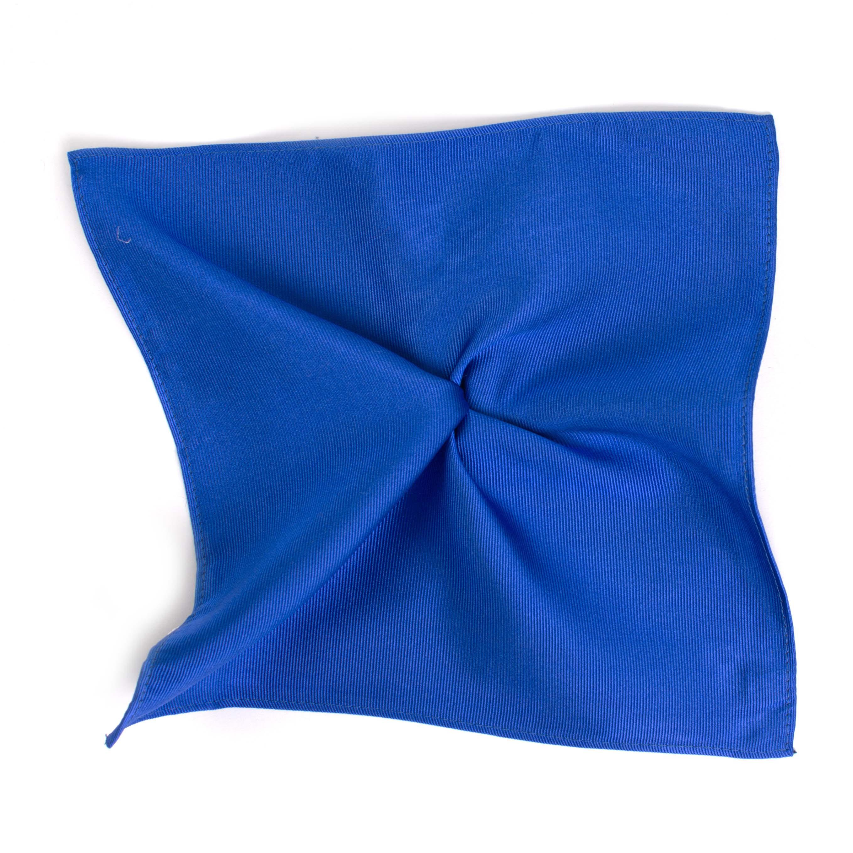 Classic royal blue ribbed pocket square