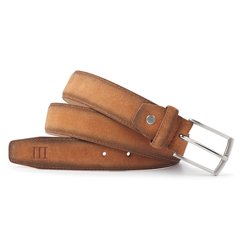 Belt suede cognac