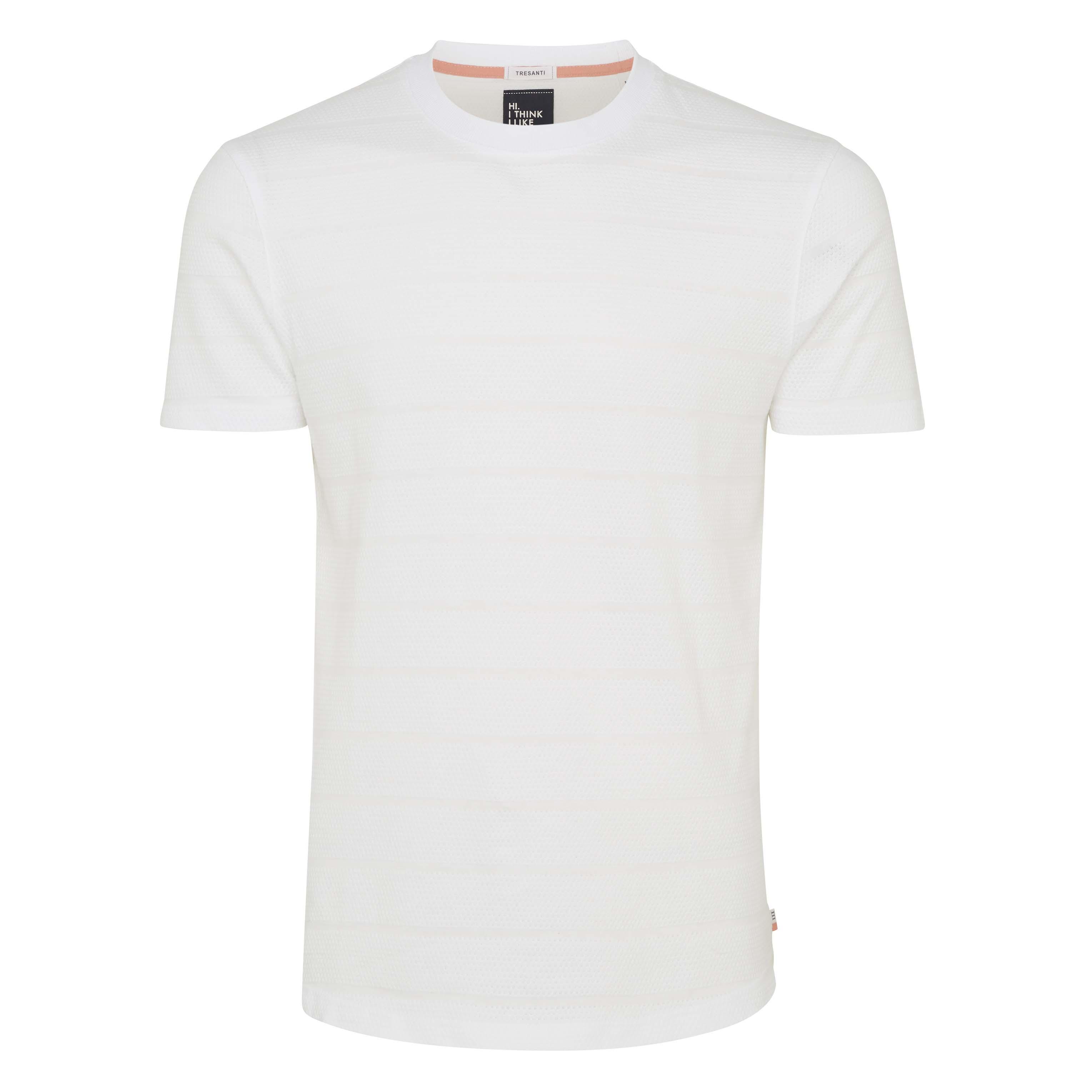 Tony | T-shirt structure white