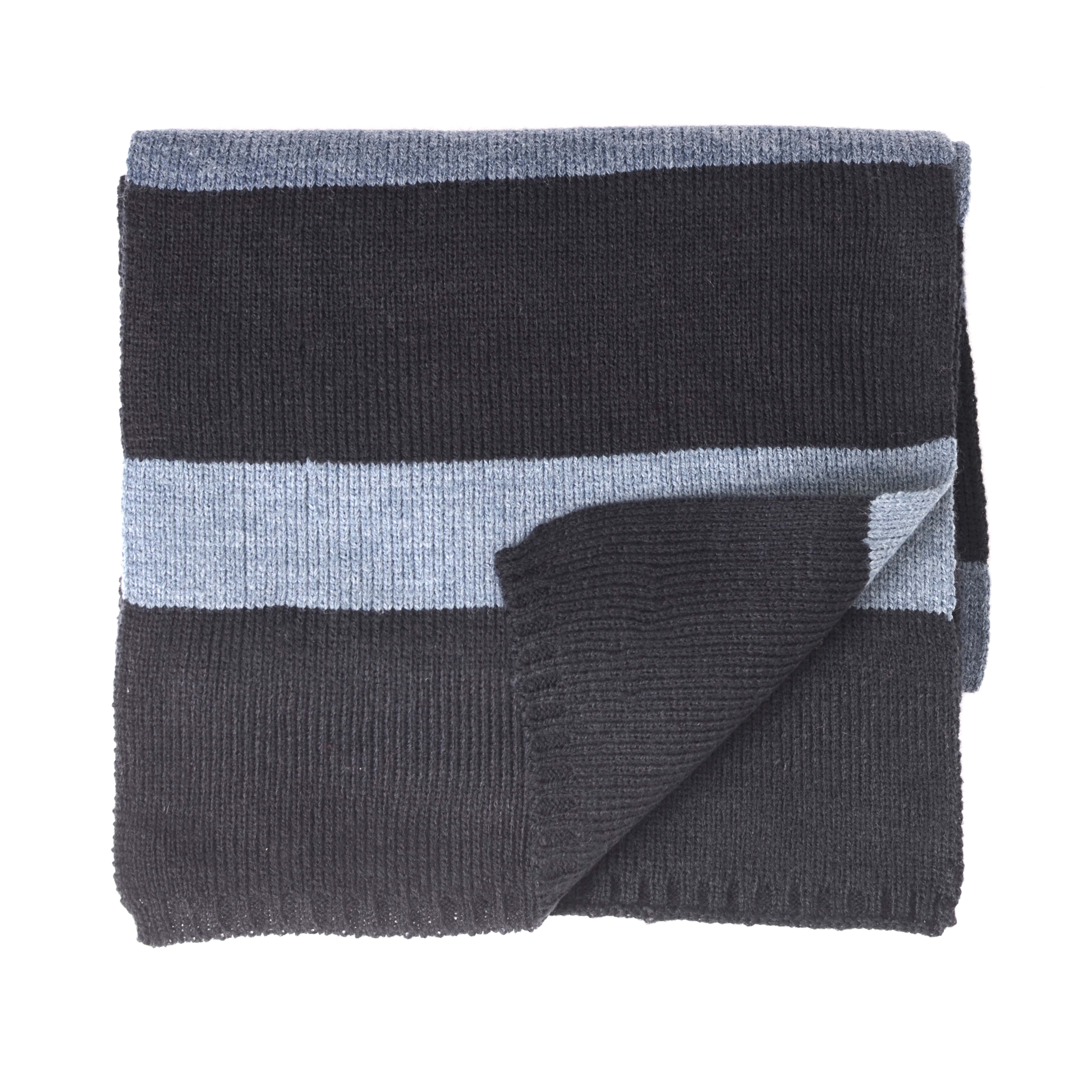 Jordi   Scarf knitted with blocks blue