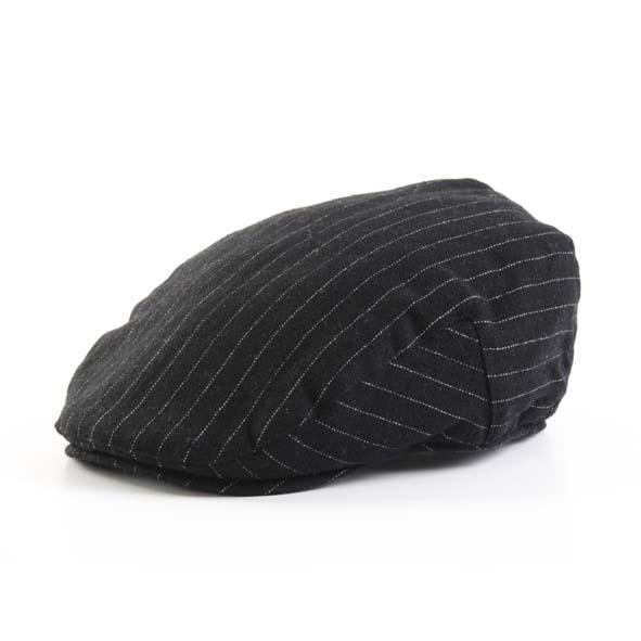 Flatcap, black pinstripe design