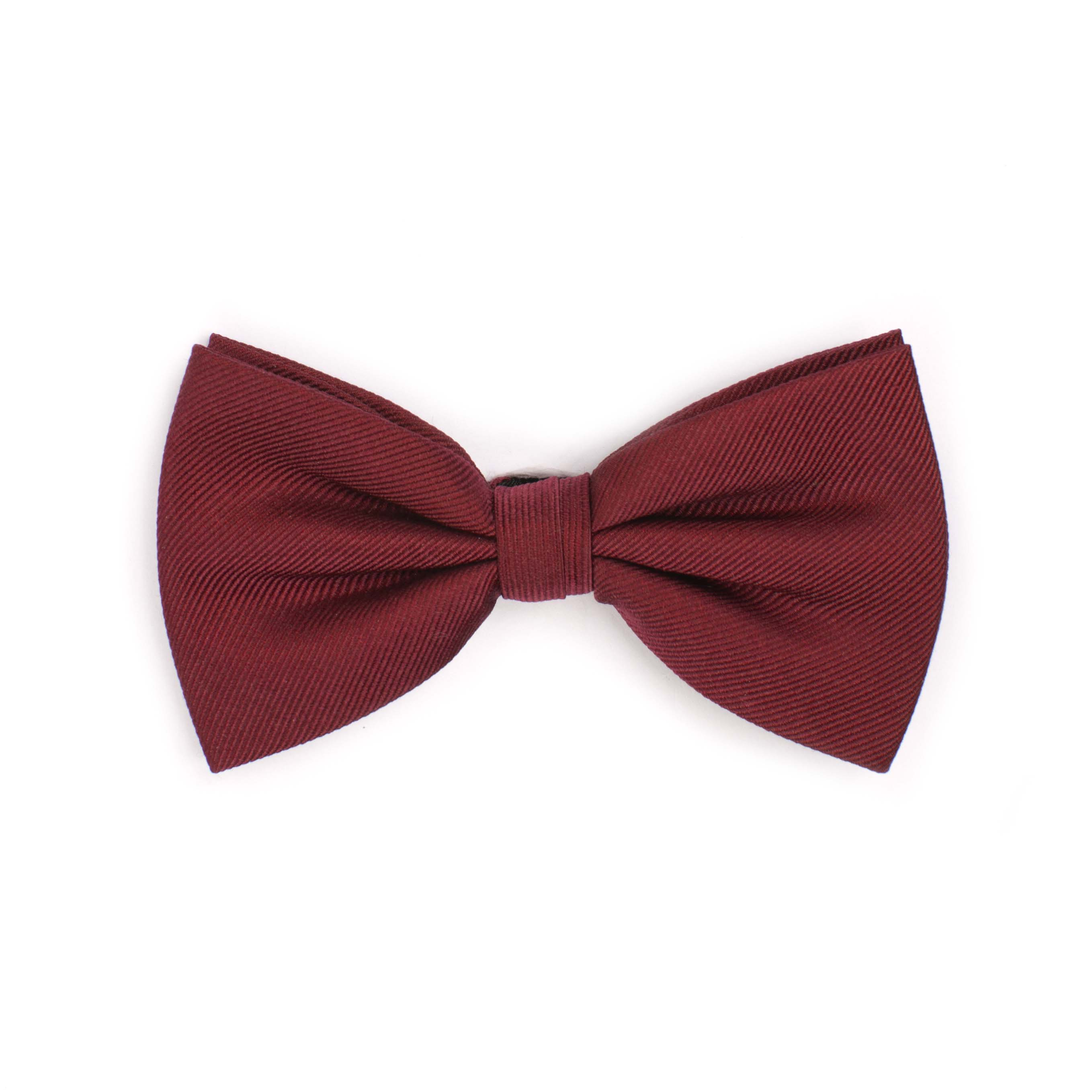 Bow tie classic ribbed burgundy