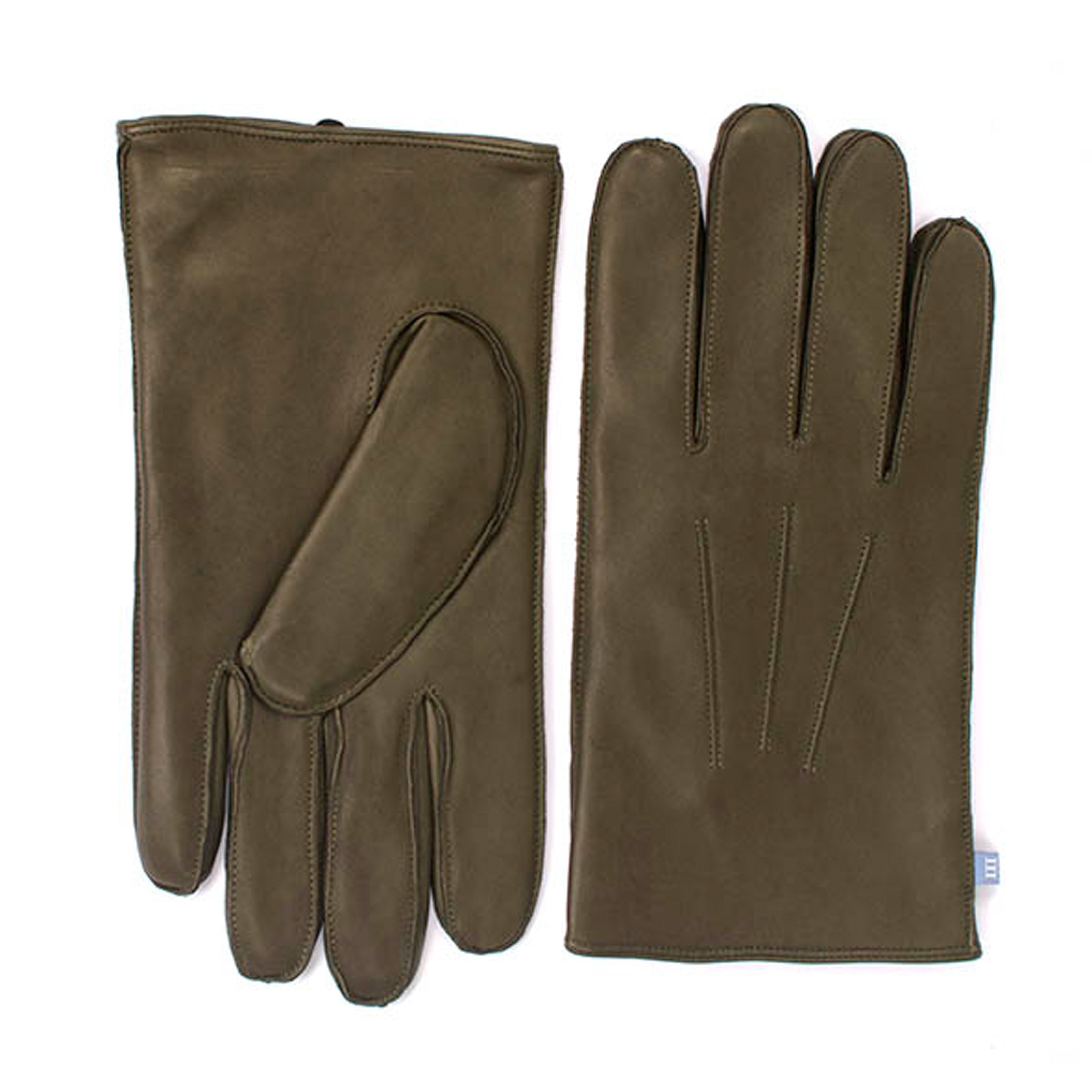 Gloves army green sheep leather