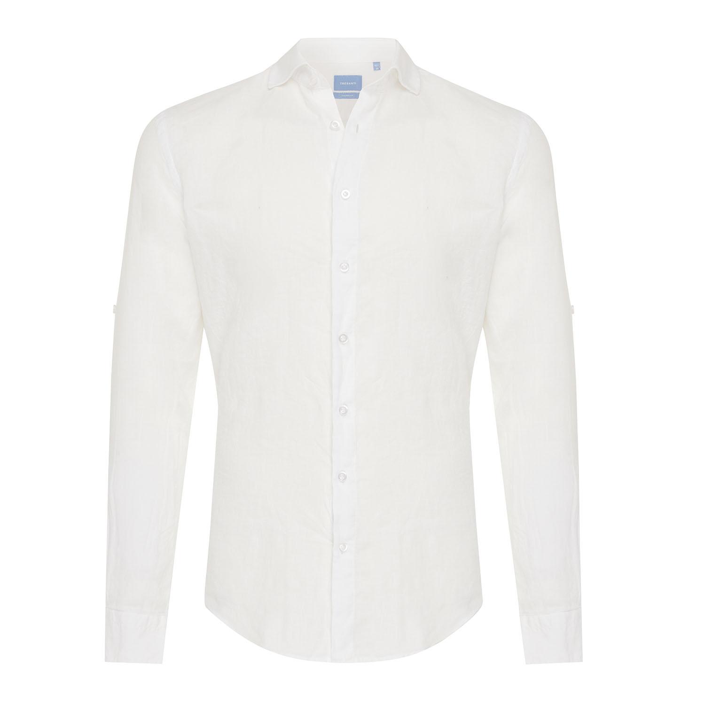 Tristan | Basic linen shirt white