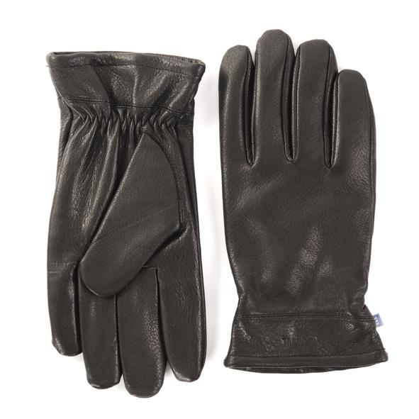 Gloves, soft deer leather, black