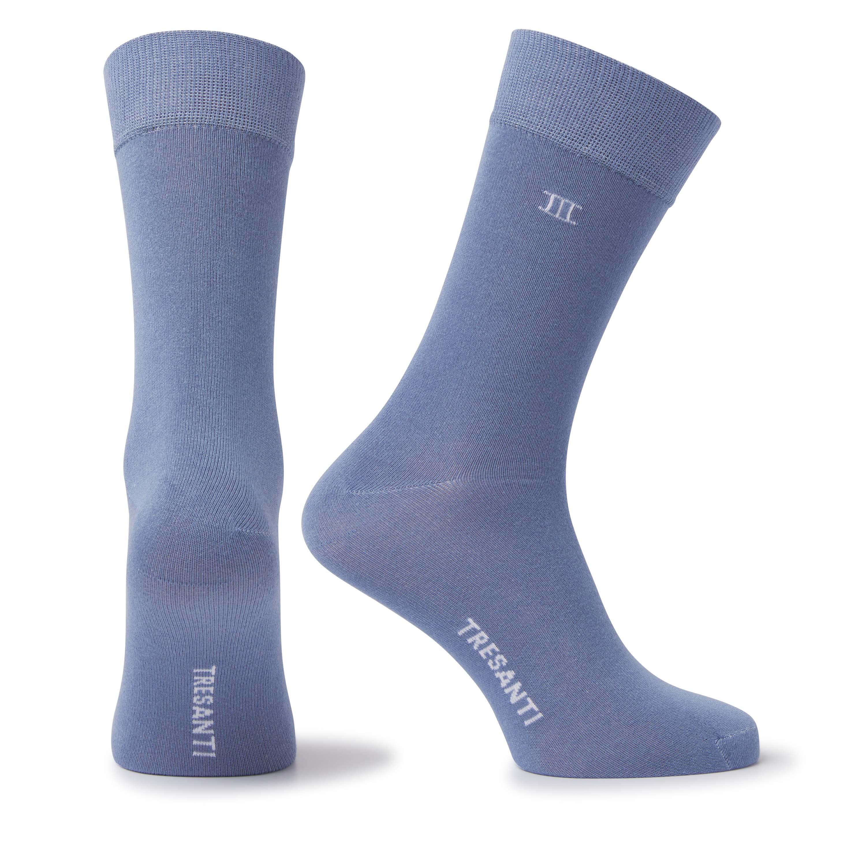 Socks bamboo blue