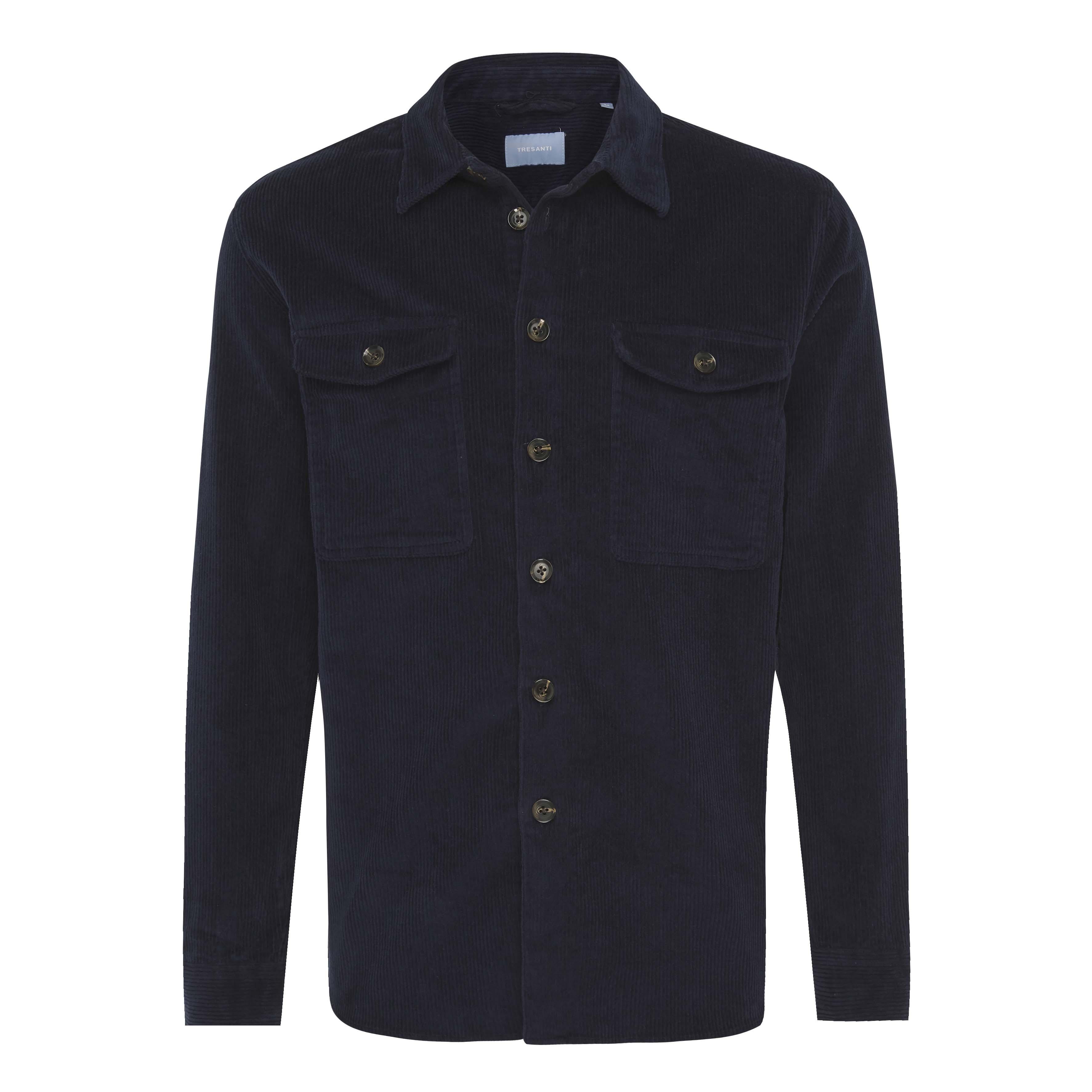 Jiro | Overshirt corduroy navy