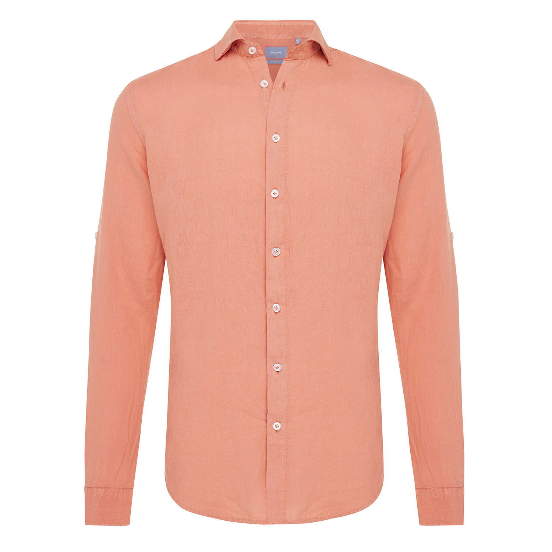 Tristan | Basic linen shirt salmon