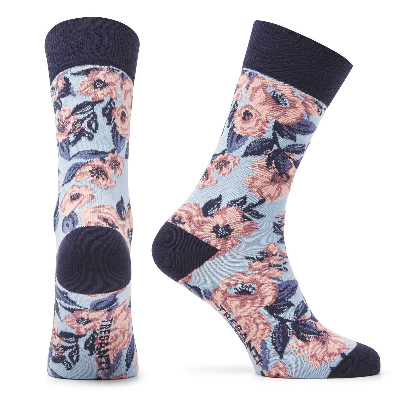 Muaz | Cotton socks flowers blue