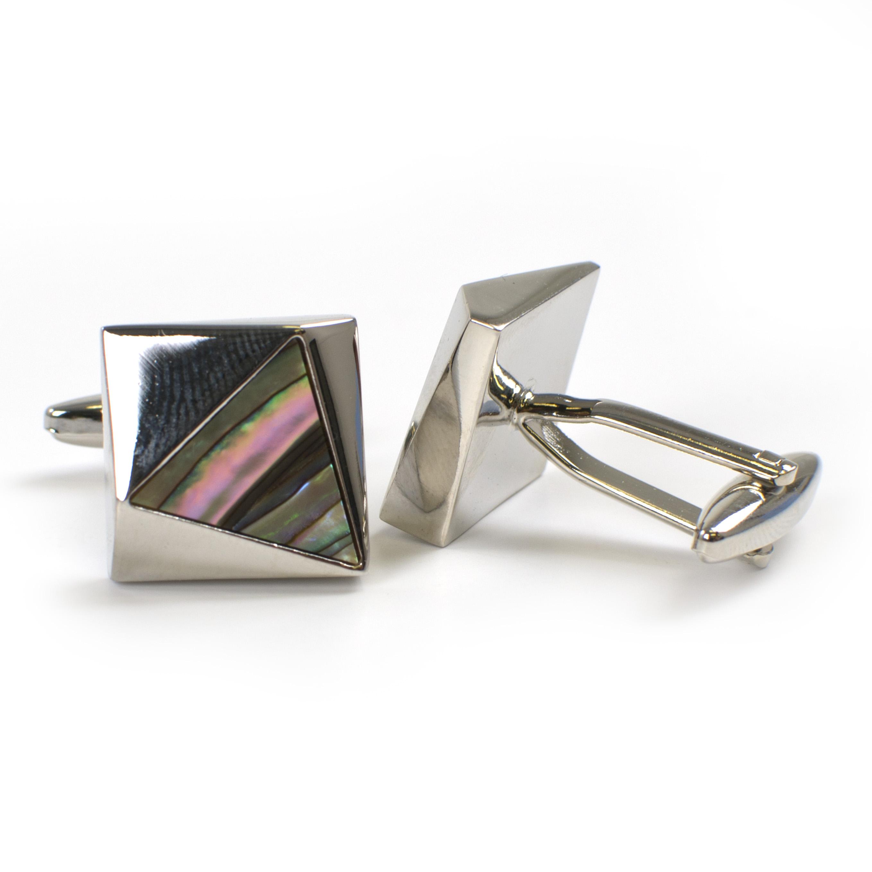 Cufflinks with abalone inlay
