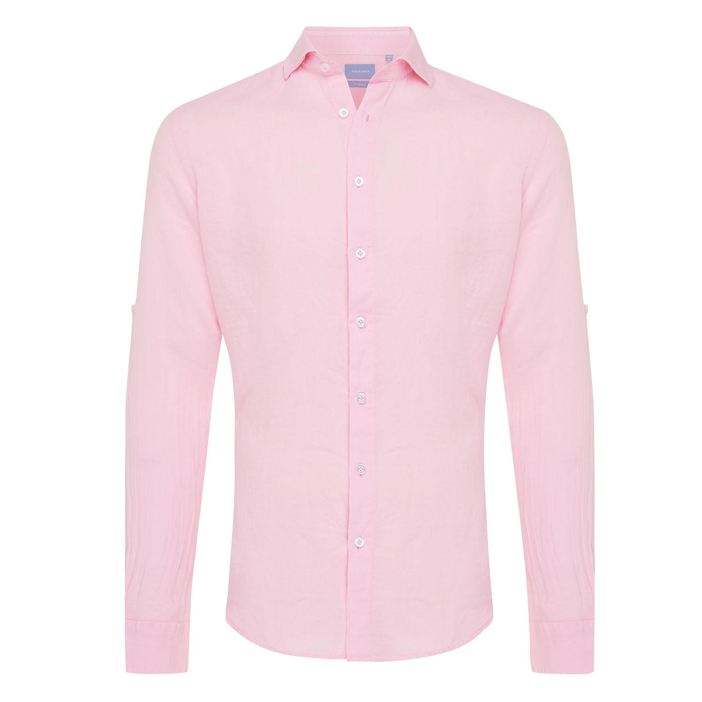 Tristan | Basic linen shirt pink