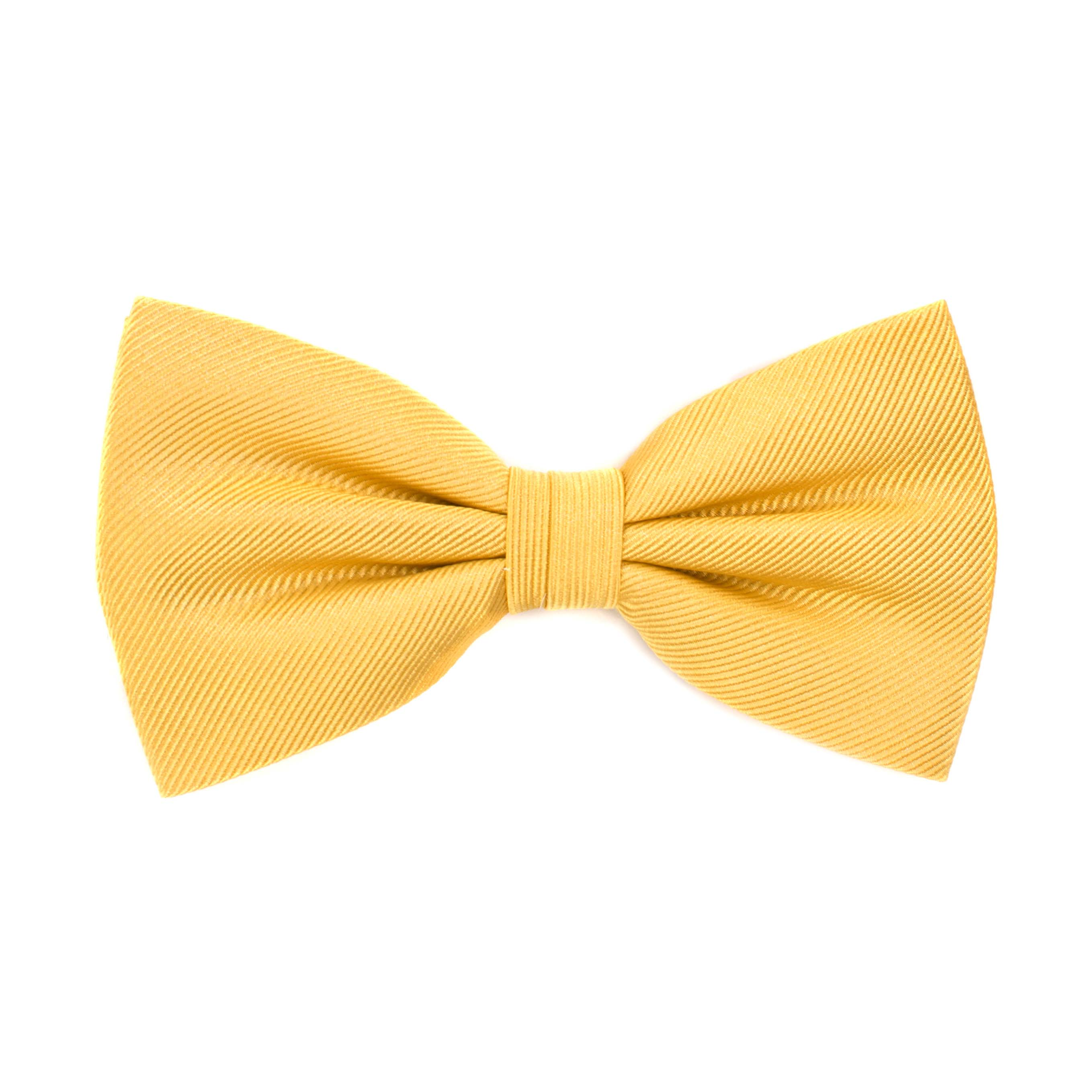 Bow tie classic ribbed gold