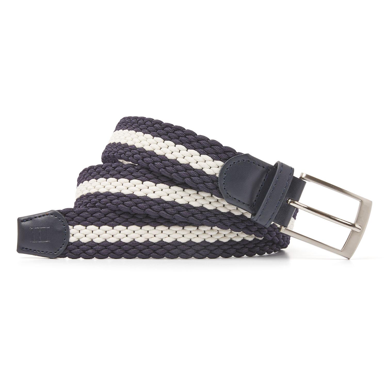 Mees | Belt braided navy/beige
