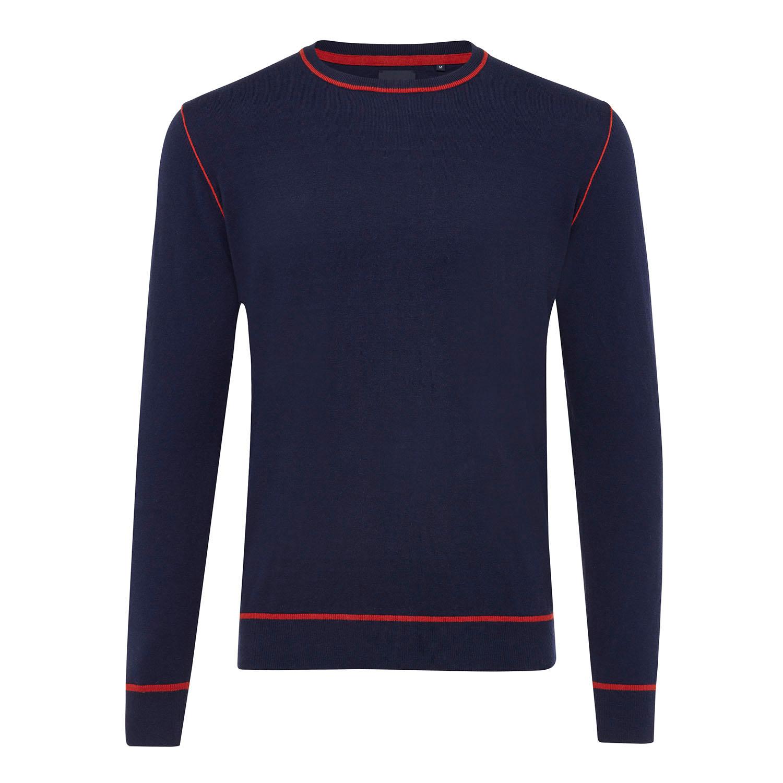 ELON   Basic jumper with side relief dark blue