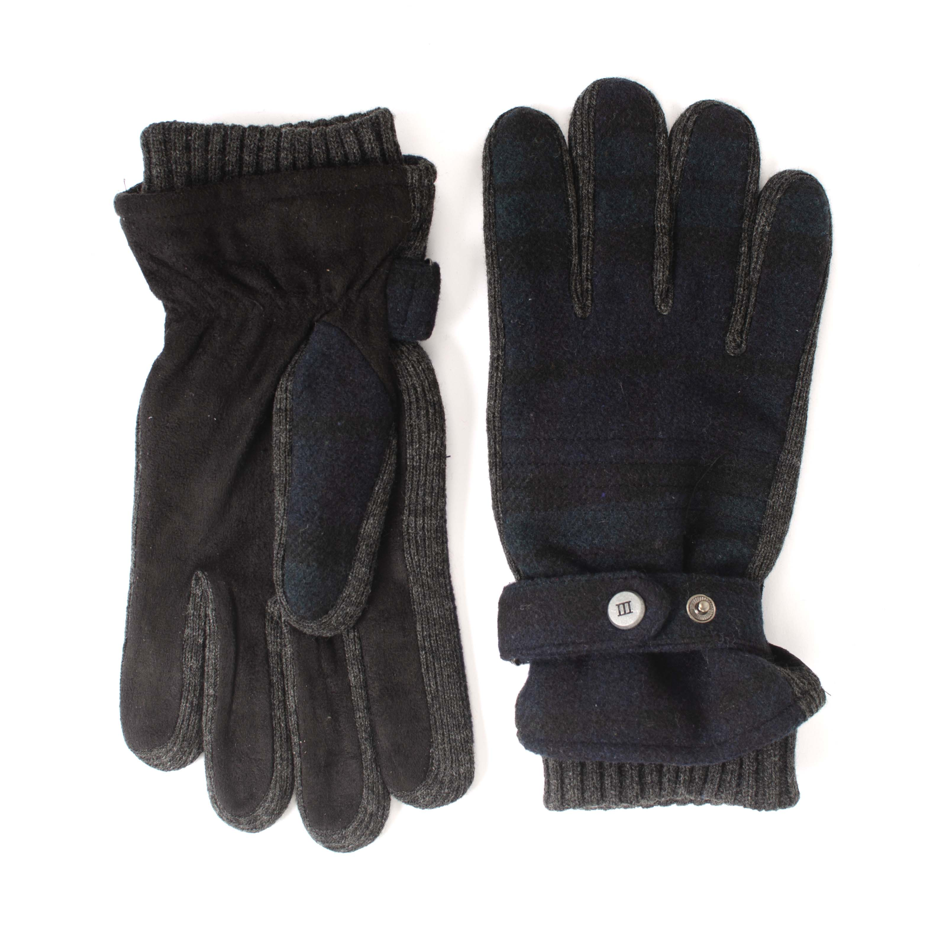 Joachim | Gloves green with navy check