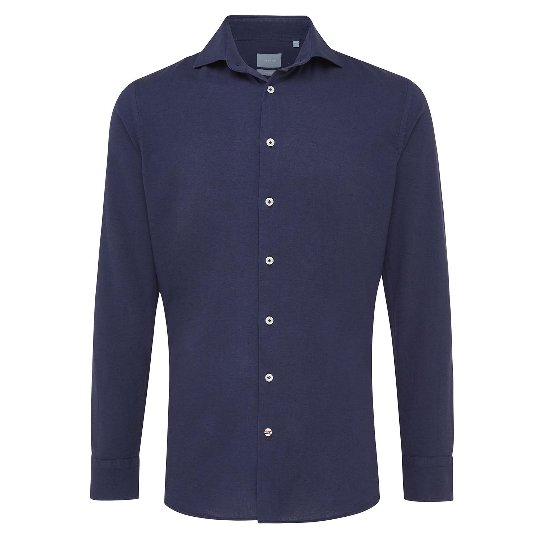 Maxim   Shirt cotton/linen navy