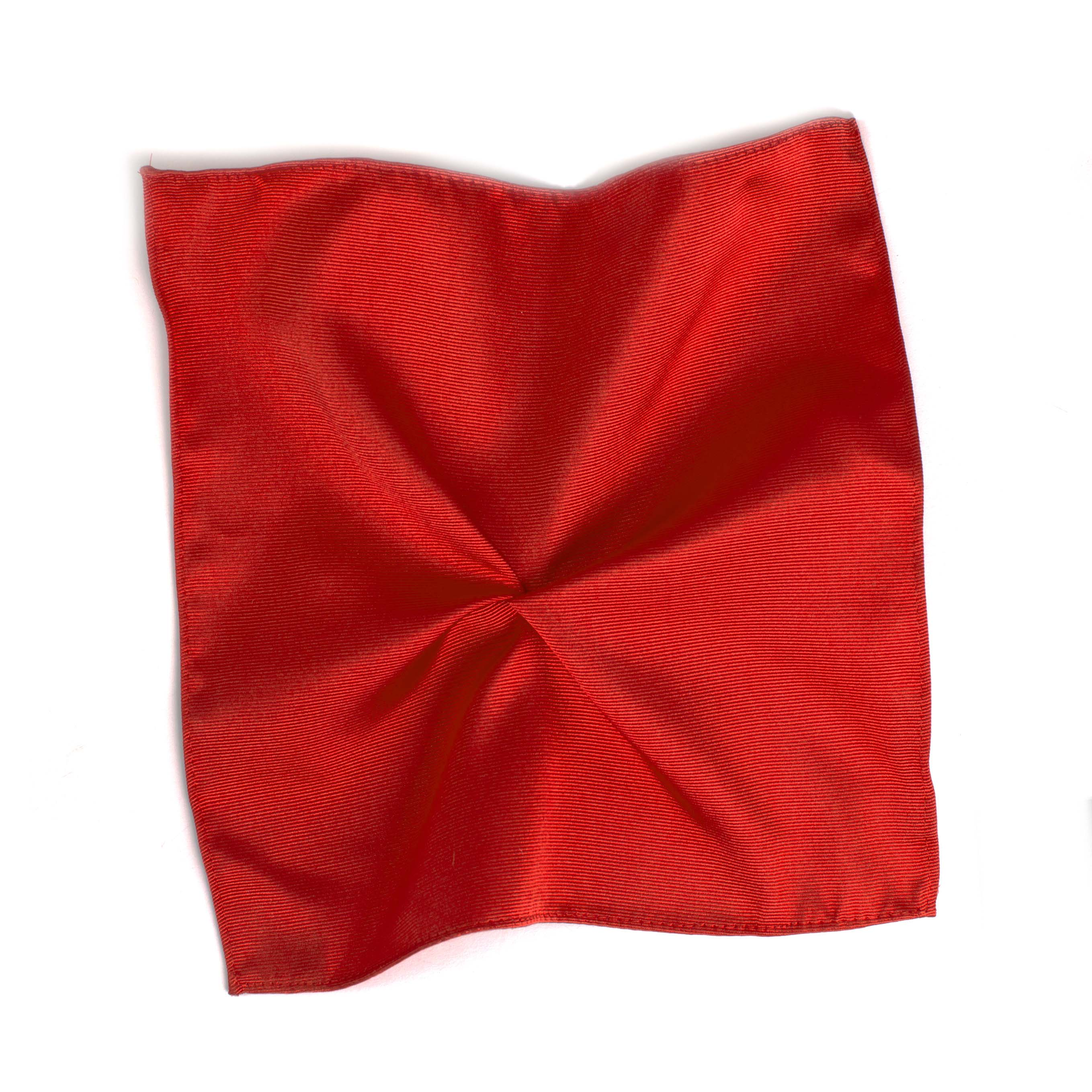 Pocket square classic red ribbed