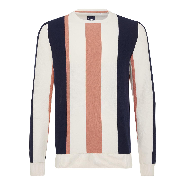 Morris | Pullover vertical stripes cotton/cashmere