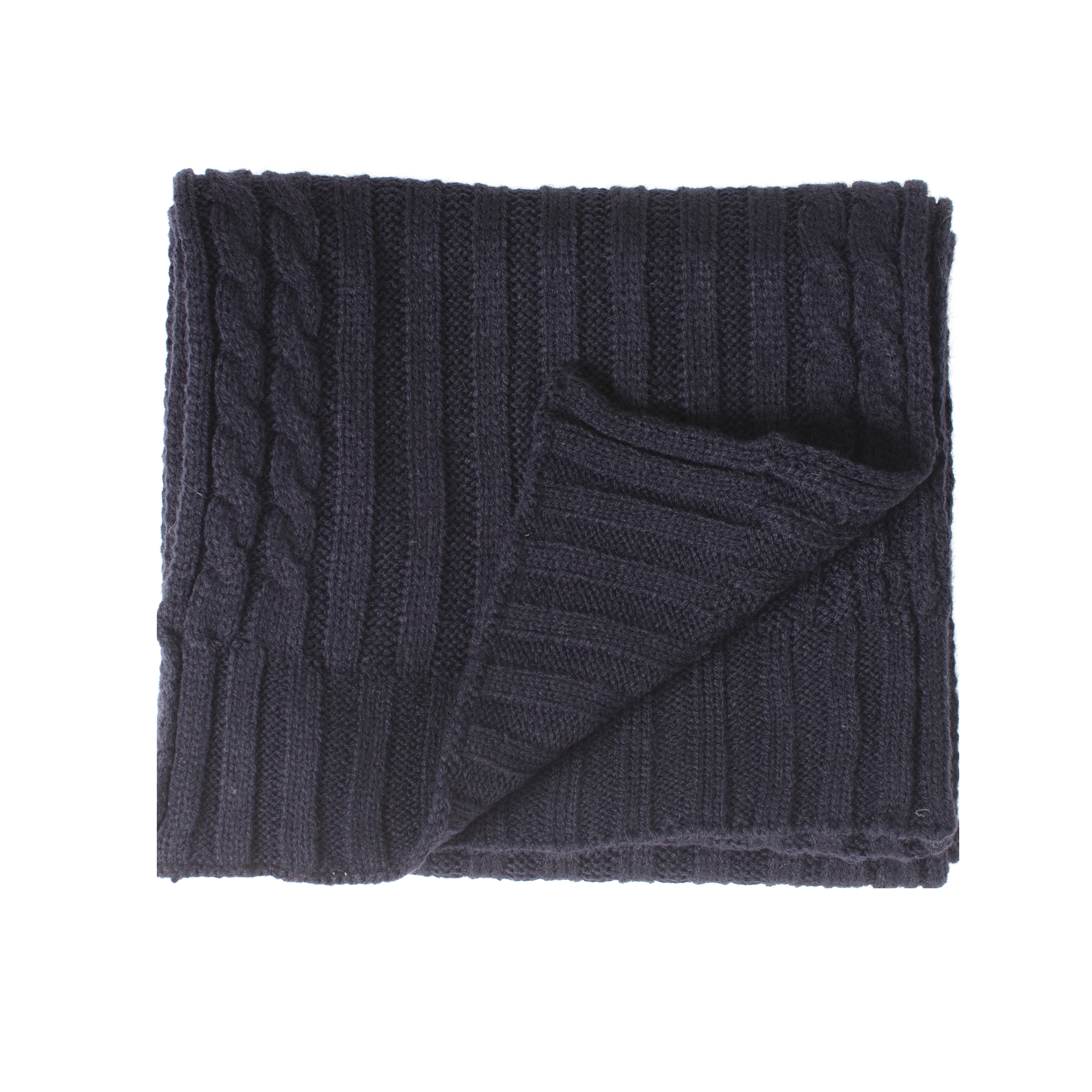 Josh   Scarf cable knitted in navy