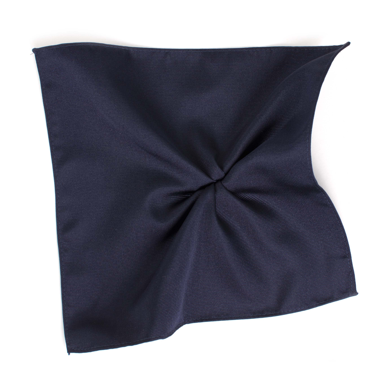 Classic navy ribbed pocket square