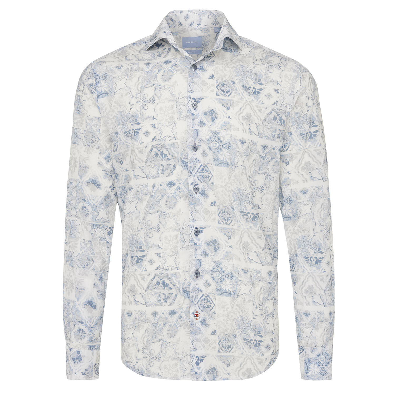 Miller   Shirt fantasy print blue