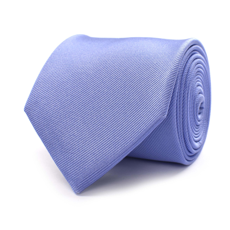 Tie classic ribbed sky blue