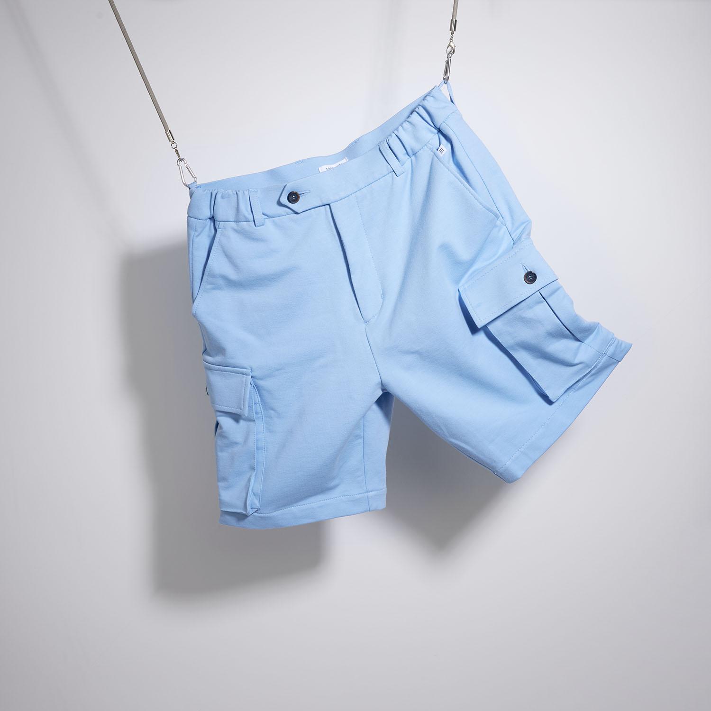 Morgan   Shorts with cargo pockets light blue