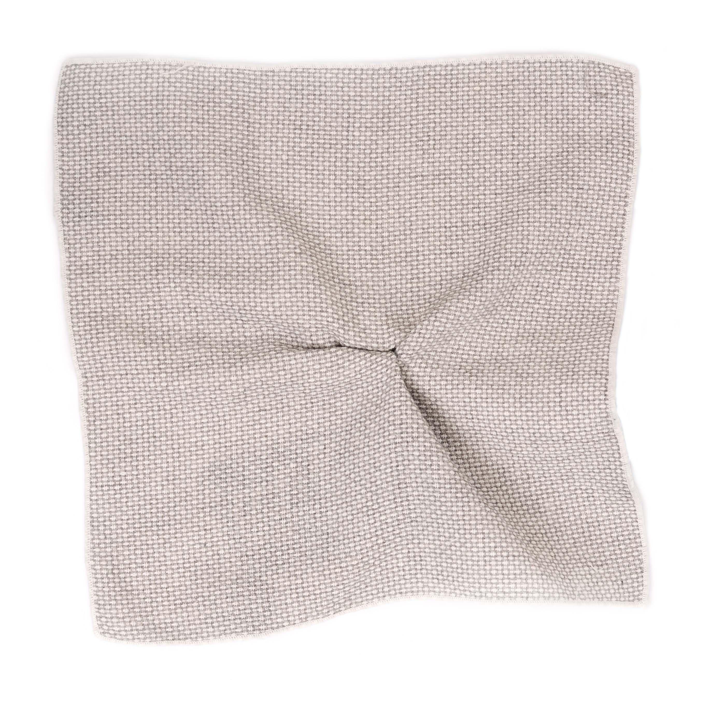Pocket sqaure grey minimal cotton