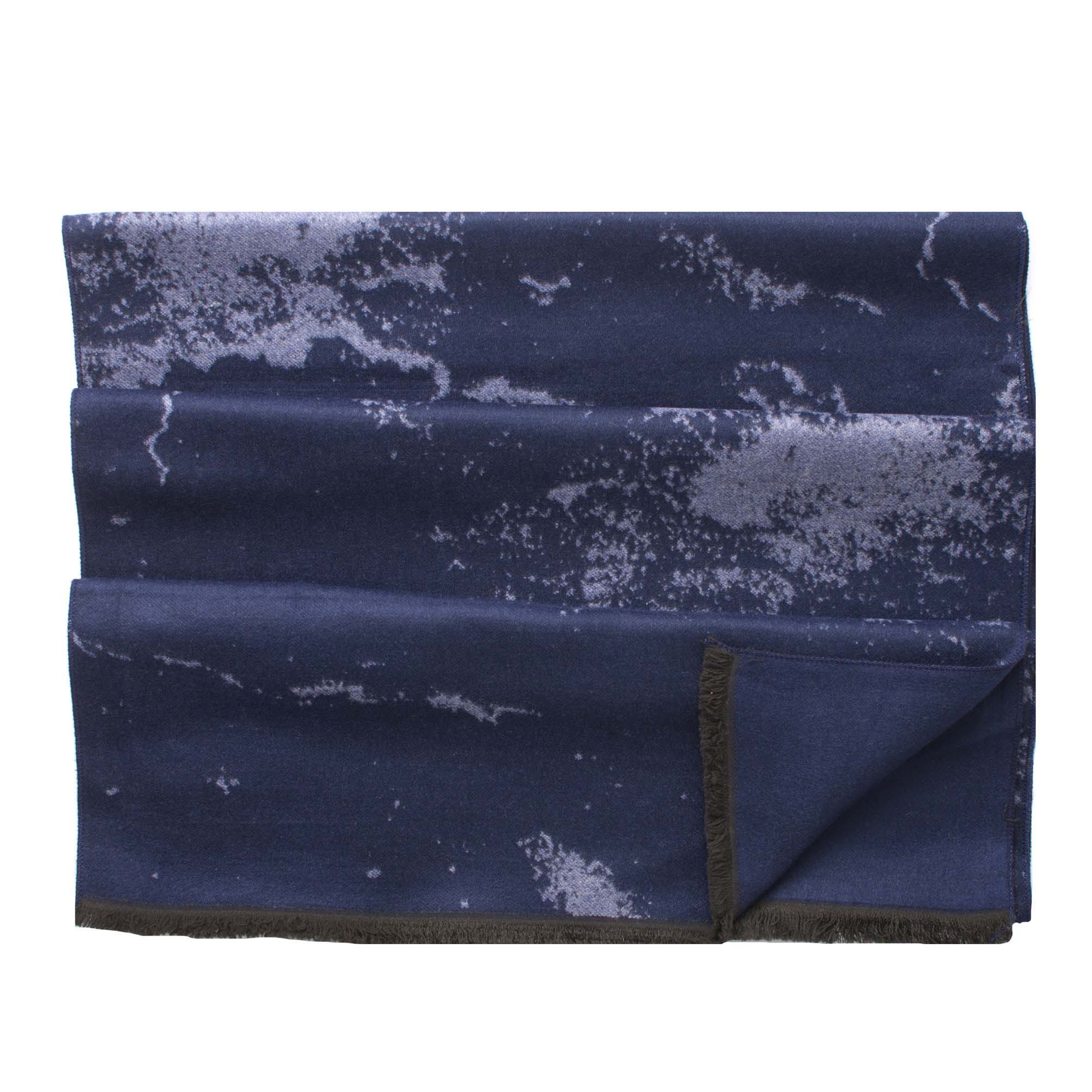 Scarf viscose double face, marble design