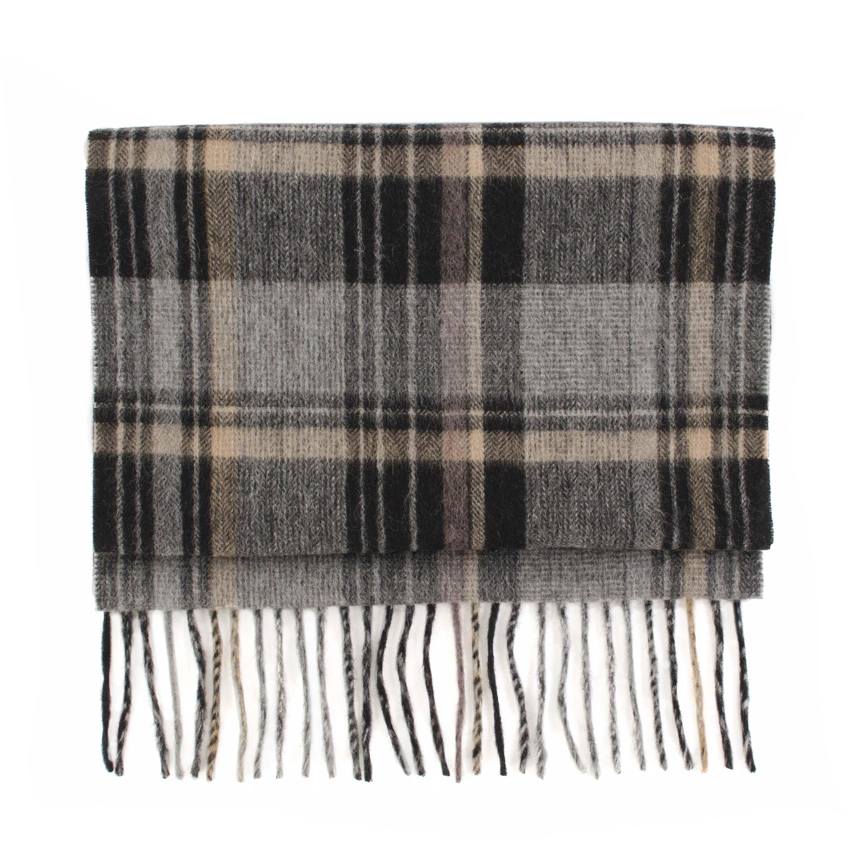 Cashmere scarf check, beige, grey