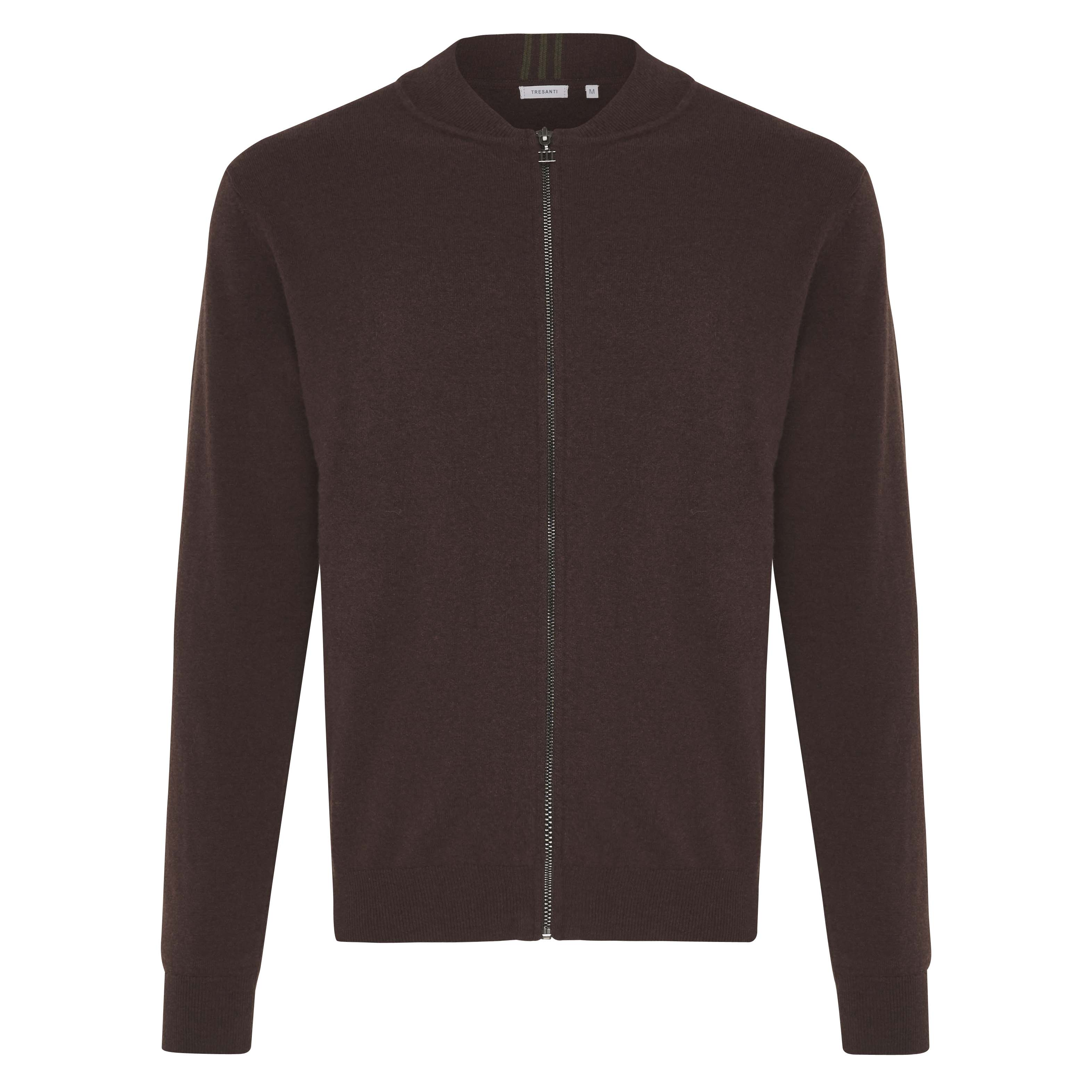 Jonathan   Pullover with zipper brown