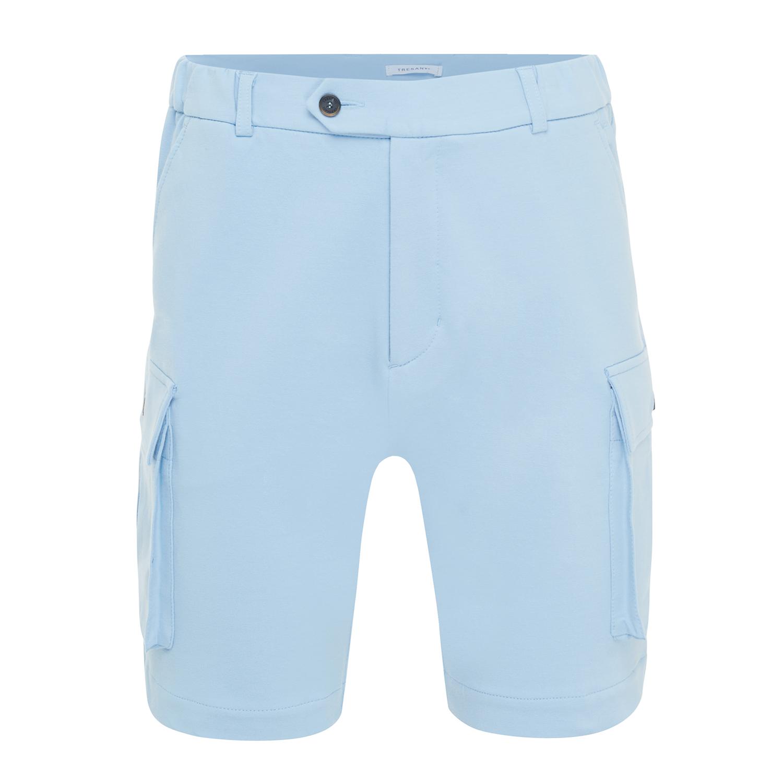 Morgan | Shorts with cargo pockets light blue