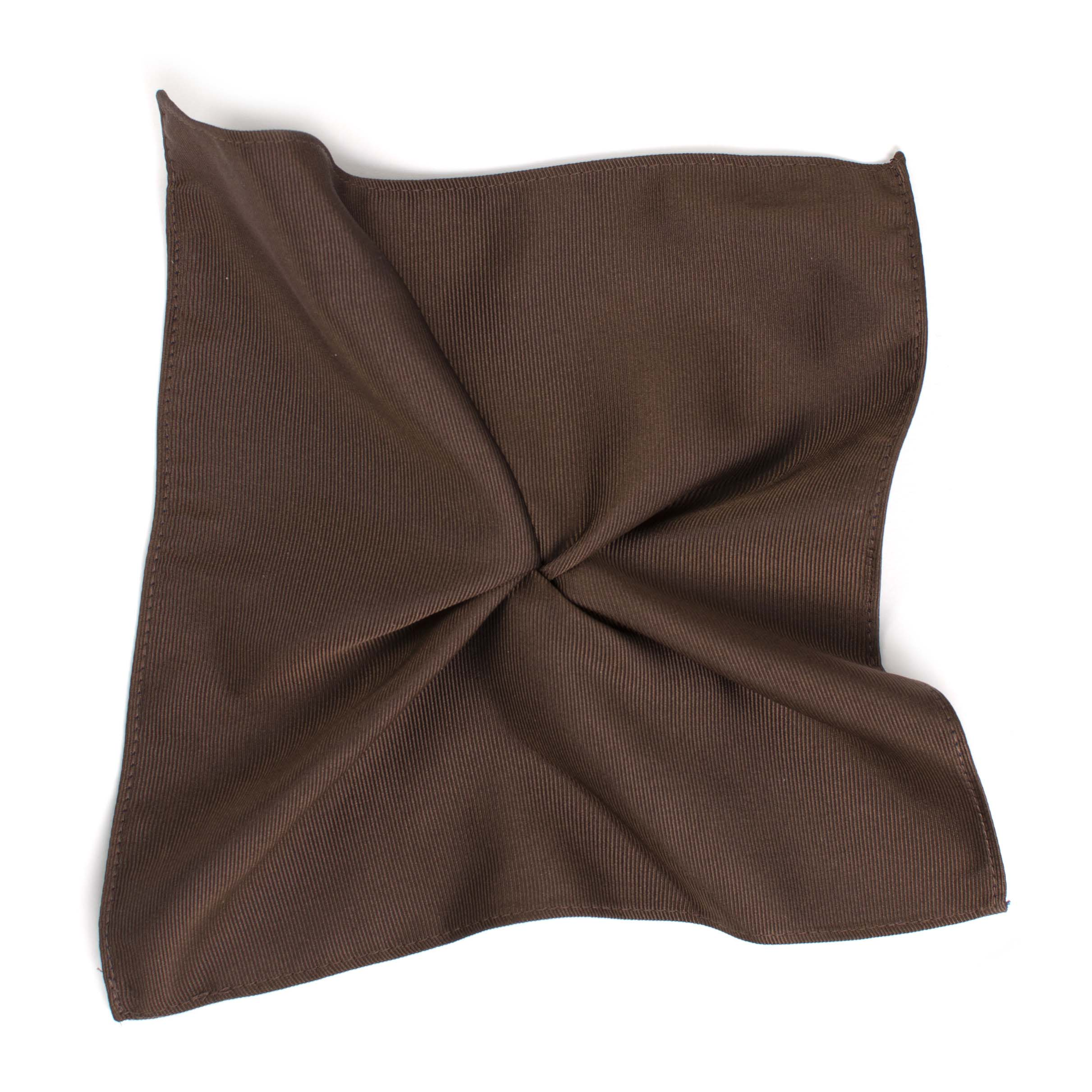 Pocket square classic brown ribbed
