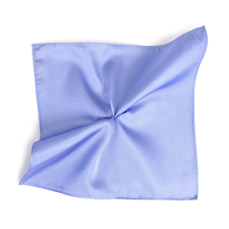 Pocket square classic sky blue ribbed