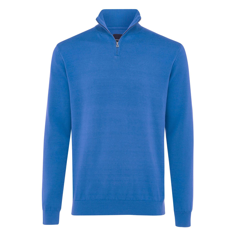 ELLIOT   Basic turtleneck with zipper closure blue